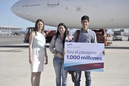 Los aeropuertos españoles en 2015 superan los 207 millones de pasajeros