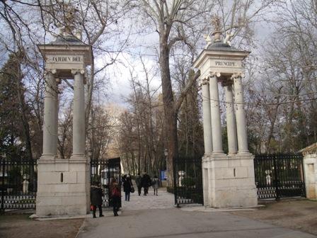 Entrada a uno de los más populares jardines de Aranjuez, el Jardín del Príncipe.