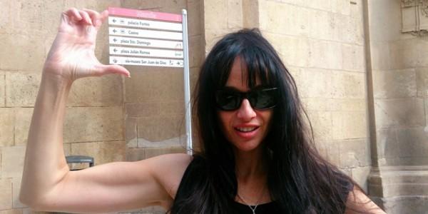 Beatriz Rico, actriz, en Murcia.