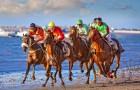 Carreras de caballos en la playa de Sanlúcar de Barrameda (Cádiz)