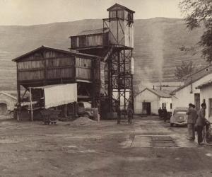 Las antiguas minas de Escucha en una imagen de antaño.