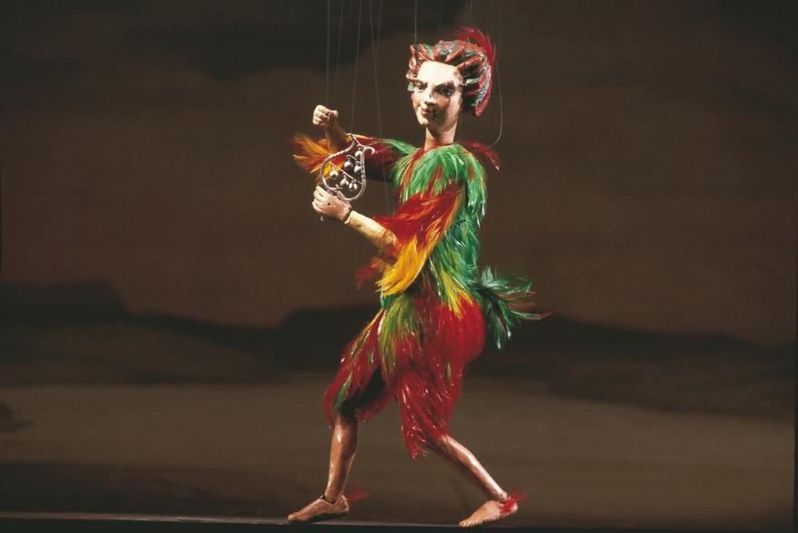 """Papageno- Figur aus """"Die Zauberfloete"""" von W.A. Mozart Salzburger Marionettentheater Foto cortesía Turismo de Austria © Österreich Werbung, Fotograf: Herzberger"""
