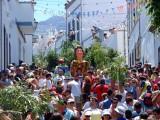 Papagüevos, lo más parecido a gigantes y cabezudos como se conocen en la Península y ramas de palmeras, son los dos elementos más significativos de las fiestas más cercanas en el calendario, la primera semana de agosto, concretamente el día 4, en el municipio norteño de Agaete, la Rama.