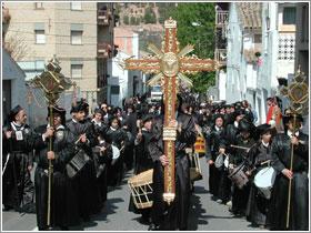La Semana Santa de Hñijar es conocida en toda España. (Foto cortesía del Ayuntamiento de Híjar)