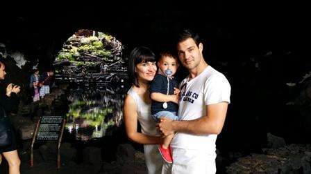 Irene Villa en familia