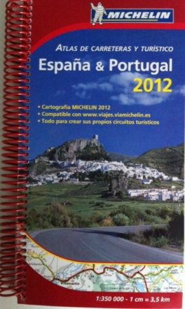 Michelin: Atlas de carreteras y turístico 2012 España & Portugal