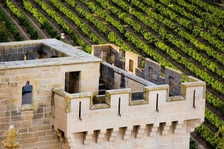 Olite, castillo y viñedos (Foto cortesía del Reyno de Navarra)