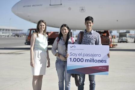 Barajas, llega el pasajero 1.000 millones