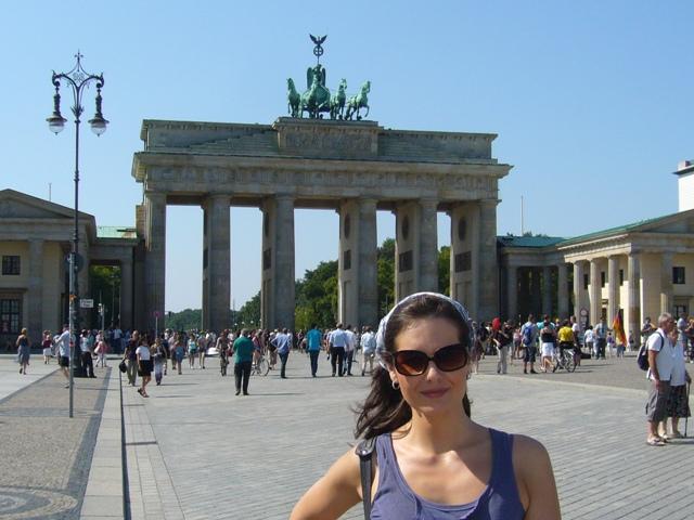 BERLÍN. Frente a la Puerta de Brandenburgo.