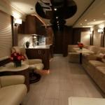 Interior de la caravana del famoso actor norteamericano Robert Downey Jr.