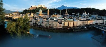 Vista general de Salzburgo.