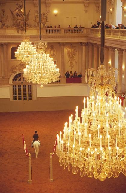 Lujo y elegancia en la Escuela ESpañola de Equitaión de Viena (© WienTourismus / Lois Lammerhuber)