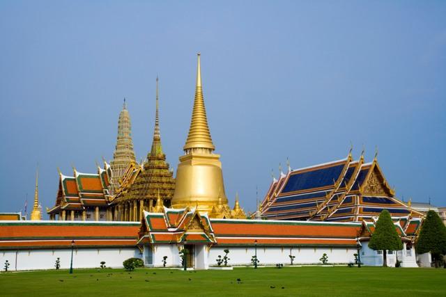 Palacio Wat-Phra-Kaeo en Bangkok.