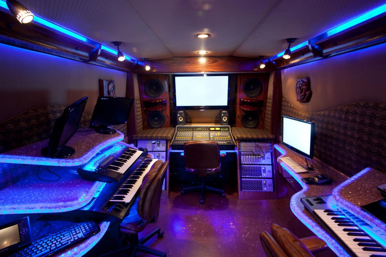 Estudio de grabación sobre ruedas de Timbaland.