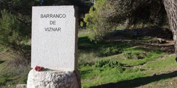 Señalización del Barranco de Viznar.