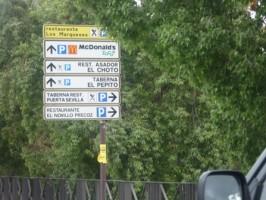 Anuncios como señales de tráfico