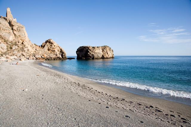 Playa de la Rijana, en Castell de Ferro.