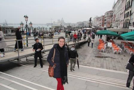 Vanessa Fernández Álvarez, modelo, en Venecia.